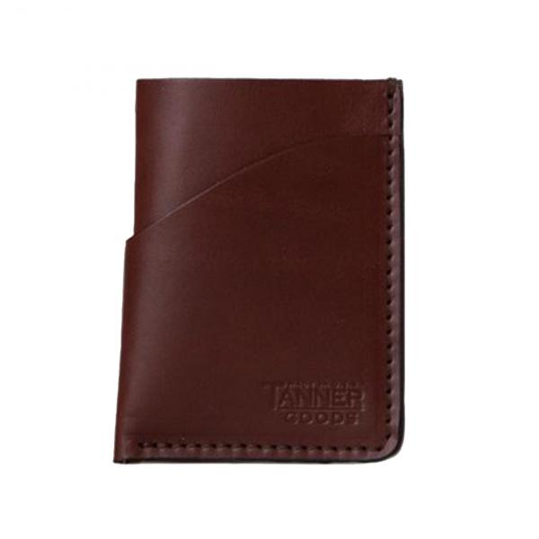 Tanner Goods Minimal Card Wallet Cognac
