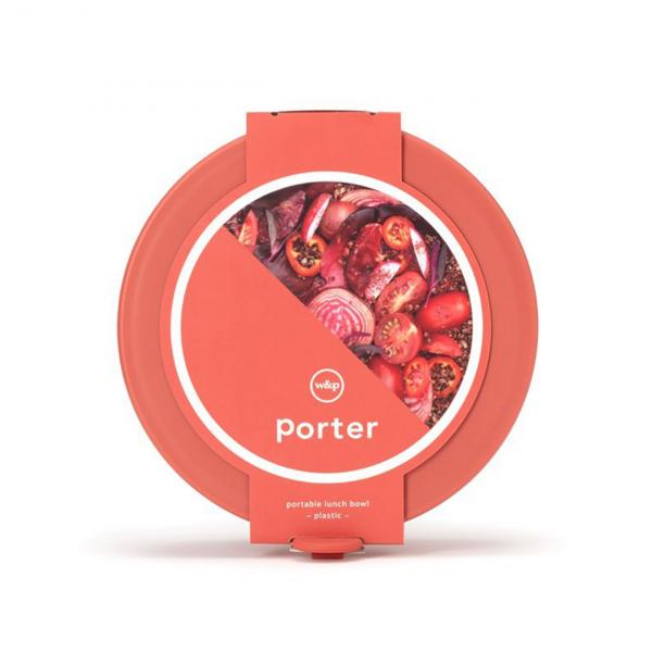 W&P Design Porter Bowl Plastic Red