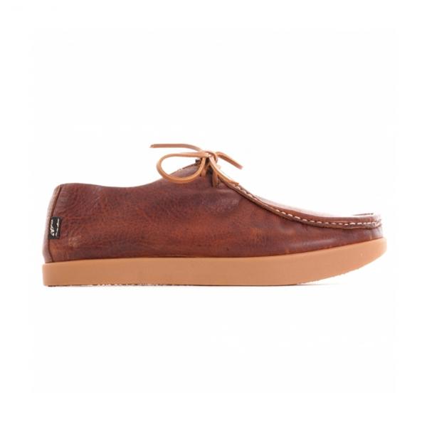 Yogi Willard Tumbled Leather Shoe Mid Brown