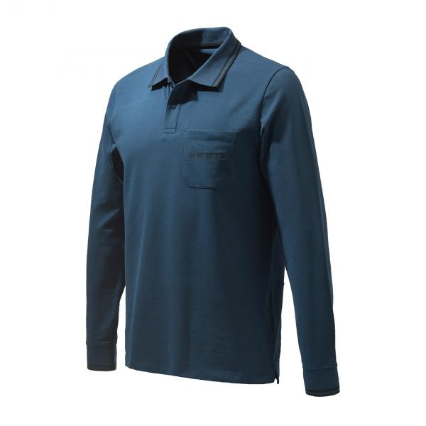 Beretta Airmesh L/S Polo Shirt Navy