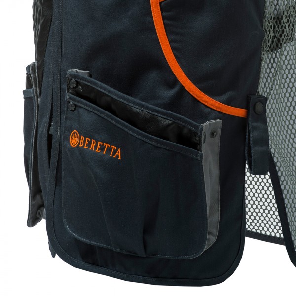 Beretta Sporting Vest Black / Orange