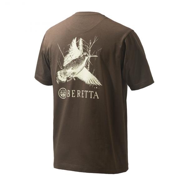Beretta Woodcock T-Shirt Chocolate