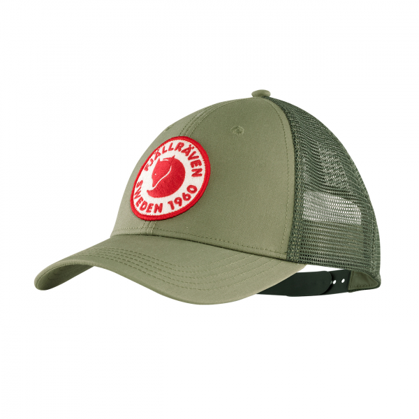 Fjallraven Logo Langtradarkeps Cap Green