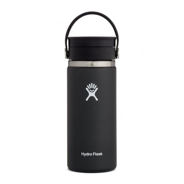 Hydro Flask 16oz Wide Mouth Flex Sip Lid Black