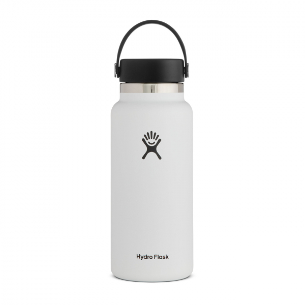 Hydro Flask 32oz Wide Mouth Bottle White