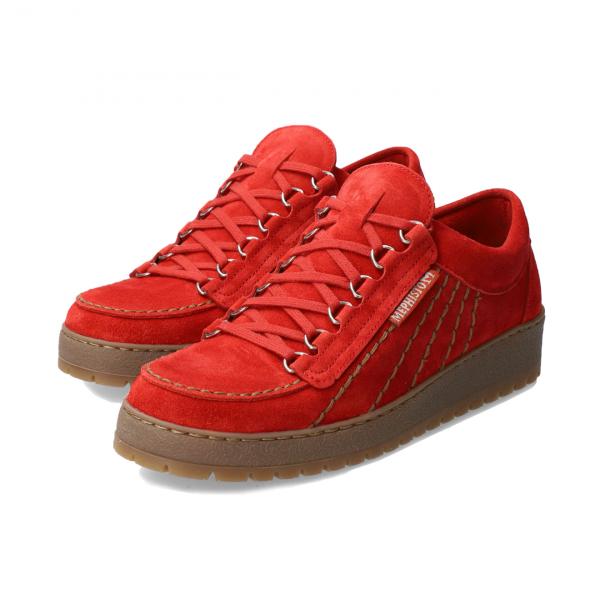 Mephisto Rainbow Velours Shoe Scarlet