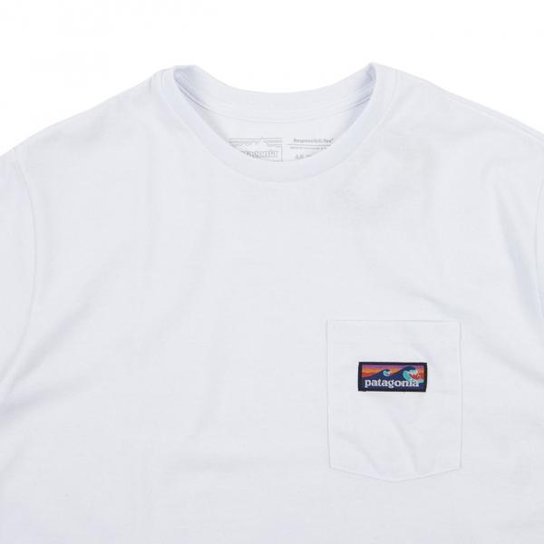 Patagonia Boardshort Label Pocket Responsibili-Tee White