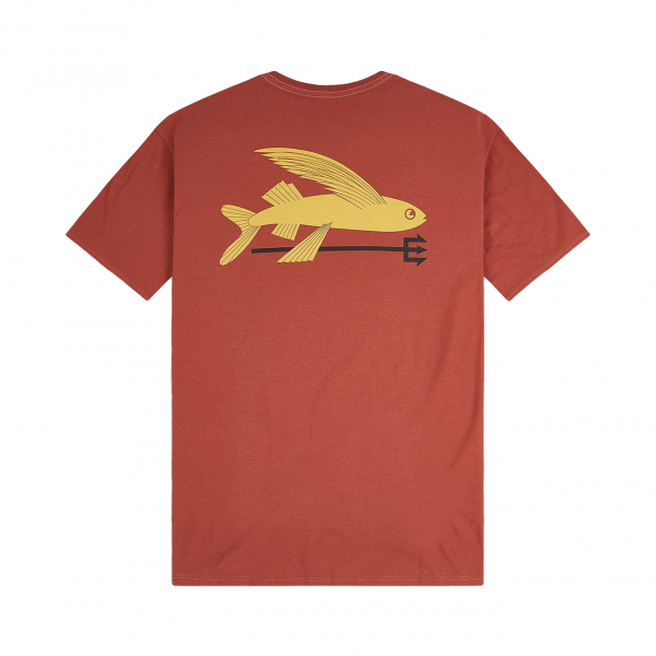 Patagonia Flying Fish Organic T-Shirt Spanish Red