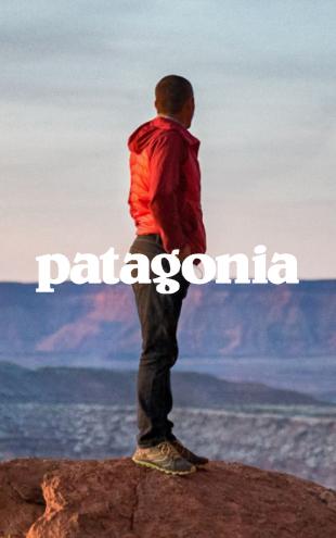 Man Wearing Red Patagonia Jacket Looking Onto Mountains