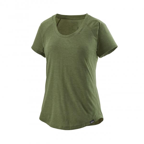 Patagonia Womens Capilene Cool Trail T-Shirt Camp Green