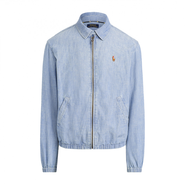 Polo Ralph Lauren Bayport Chambray Harrington Jacket Chambray Blue