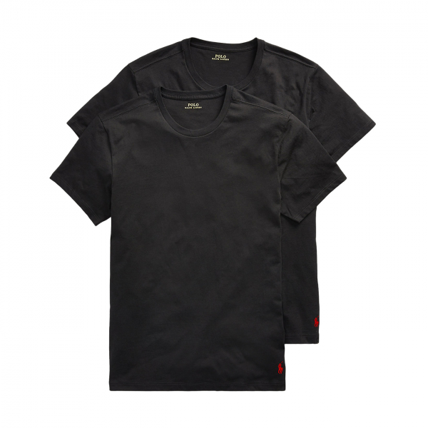 Polo Ralph Lauren Crew Neck T-Shirt Base Layer 2-Pack Black