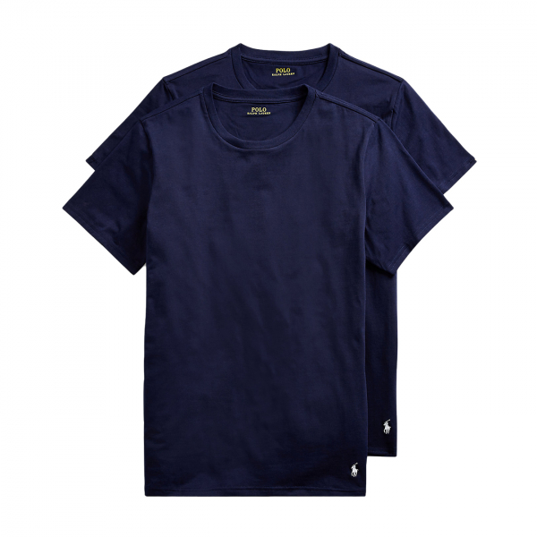 Polo Ralph Lauren Crew Neck T-Shirt Base Layer 2-Pack Navy