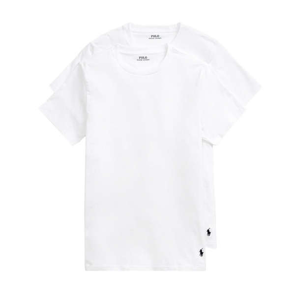 Polo Ralph Lauren Crew Neck T-Shirt Base Layer 2-Pack White