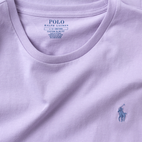 Polo Ralph Lauren Custom Slim Fit Crewneck T-Shirt Lavender
