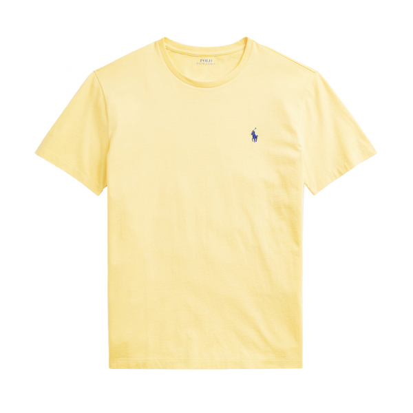Polo Ralph Lauren Custom Slim Fit Crewneck T-Shirt Polo Ralph Lauren Custom Slim Fit Crewneck T-Shirt Yellow