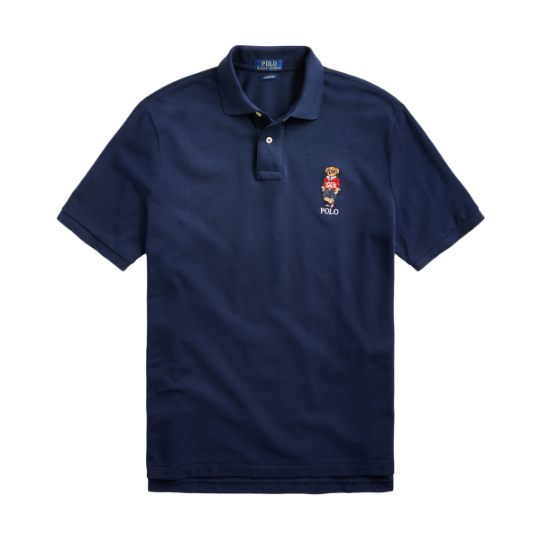 Polo Ralph Lauren Custom Slim Fit Haircut Bear Polo Shirt Cruise Navy