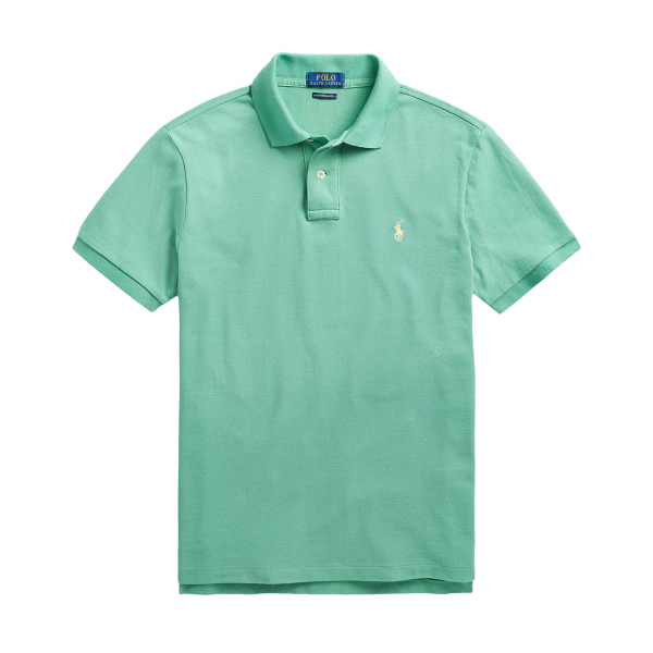 Polo Ralph Lauren Custom Slim Fit Mesh Polo Haven Green / Yellow