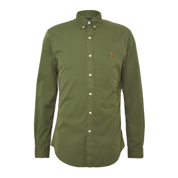 Polo Ralph Lauren Slim Fit Chino Shirt Jungle Green