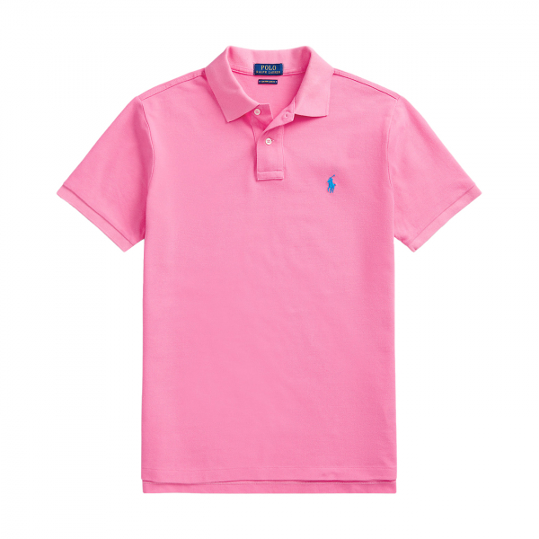 Polo Ralph Lauren Slim Fit Mesh Polo Shirt Blaze Knockout Pink