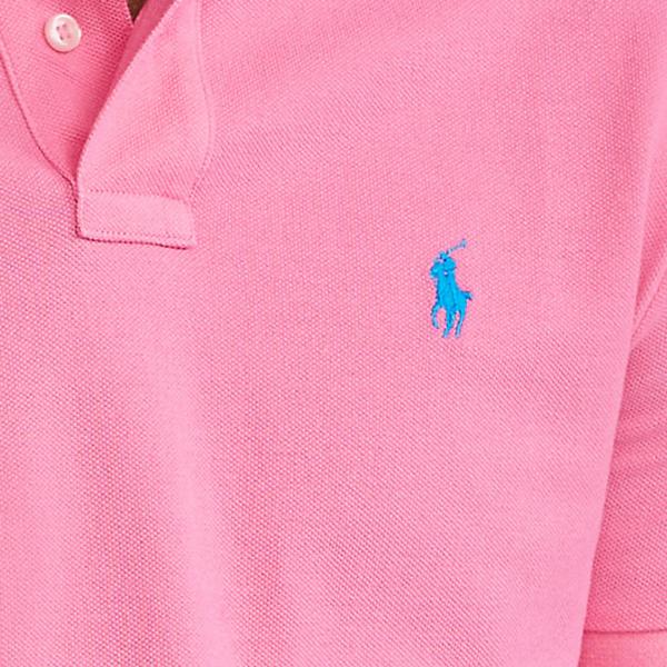 Polo Ralph Lauren Slim Fit Mesh Polo Shirt Blaze Knockout Pink
