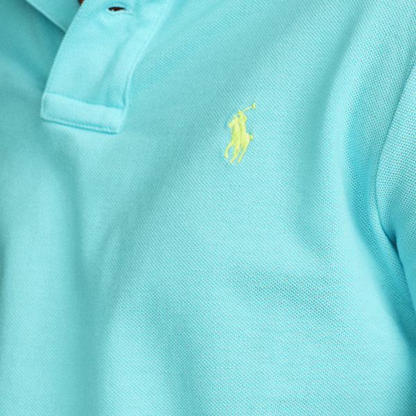 Polo Ralph Lauren Slim Fit Mesh Polo Shirt French Turquoise