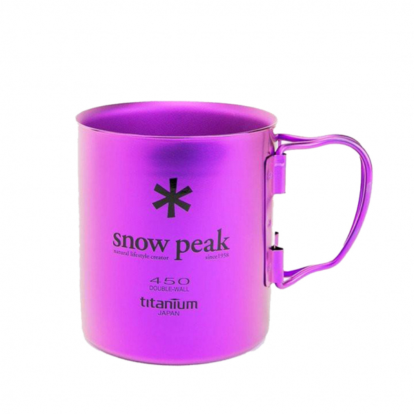 Snow Peak Titanium Double Wall 450 Purple