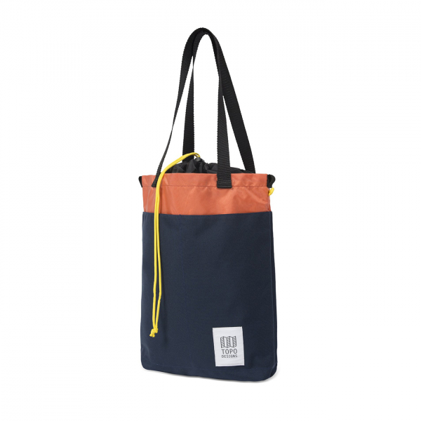 Topo Designs Cinch Tote Bag 12L Navy / Coral