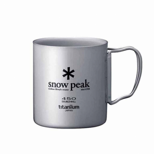 Snow Peak Double Wall 450 Mug Titanium