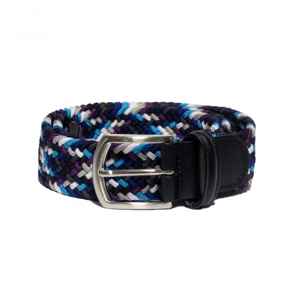 Andersons B0667 Woven Textile Belt Black, Purple, & White