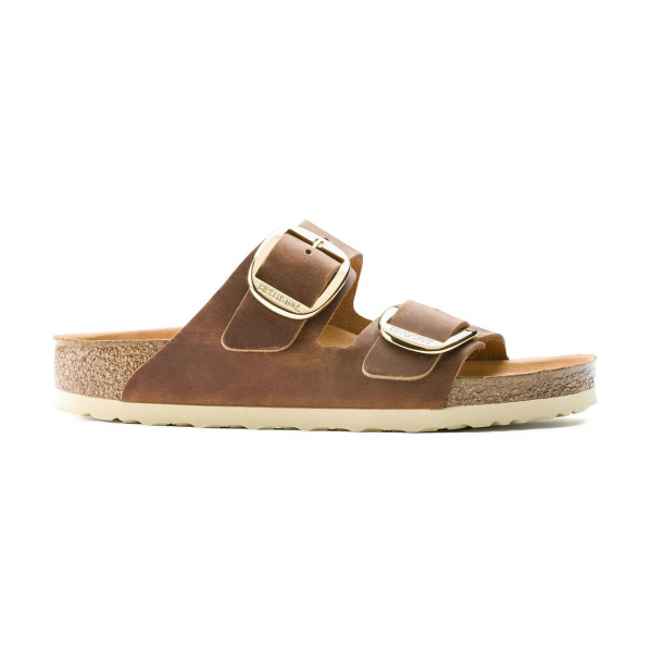 Birkenstock Arizona Big Buckle Oiled Leather Cognac