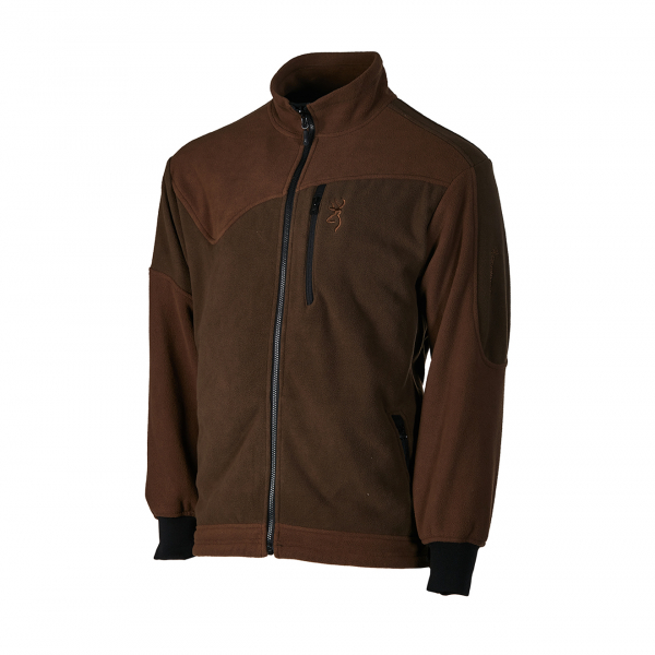 Browning Powerfleece One Zippin Jacket Green Brown