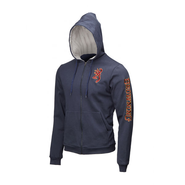 Browning Zip Snapshot Sweatshirt Blue