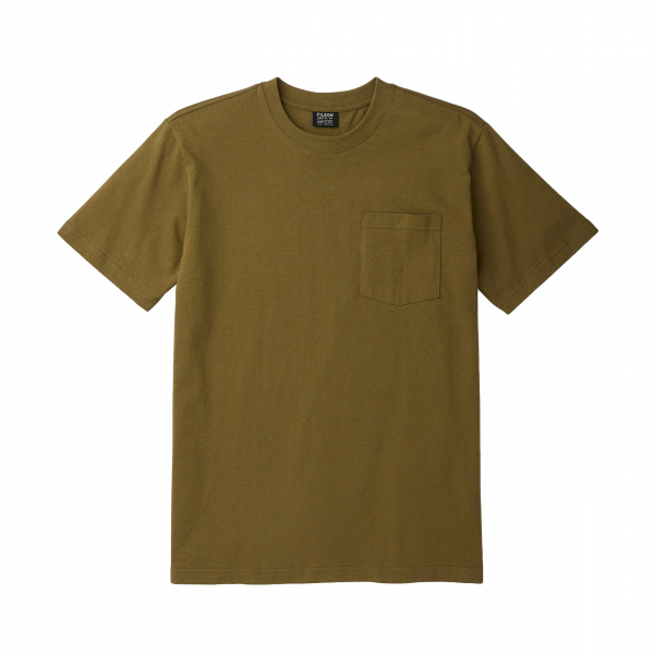 Filson Outfitter Solid One Pocket T-Shirt Olive Drab