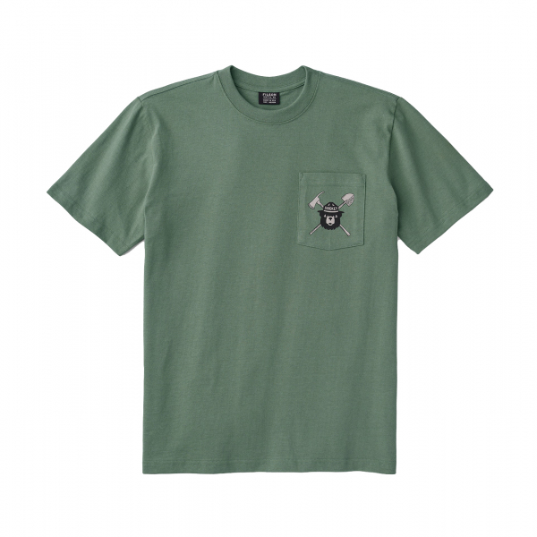 Filson Smokey Bear S/S One Pocket T-Shirt Service Green