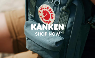 Fjallraven Kanken Backpack Classic Forest Green Being Worn by Walker.