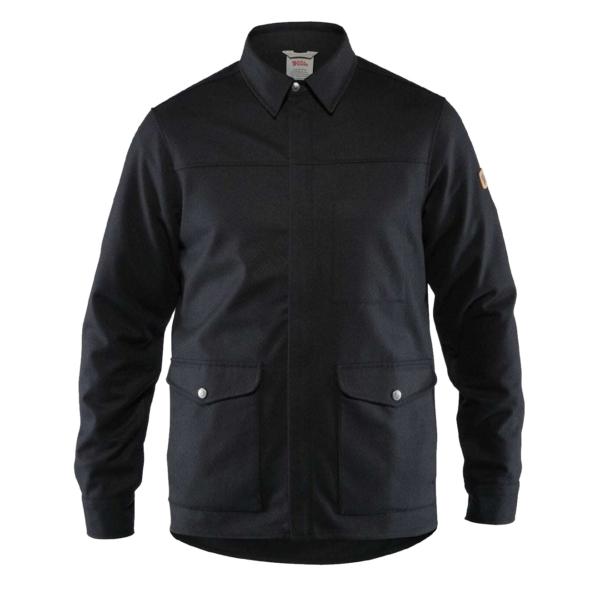 Fjallraven Greenland Re-Wool Shirt Jacket Black