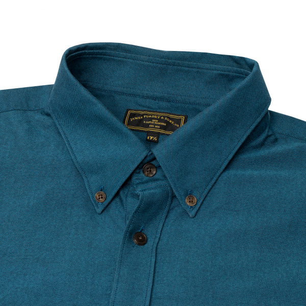 James Purdey Button Down Oxford AF Shirt Marine