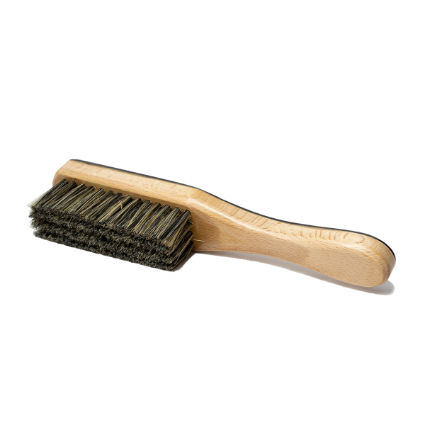James Purdey Travel Ox Horn Clothes Brush with Handle Dark