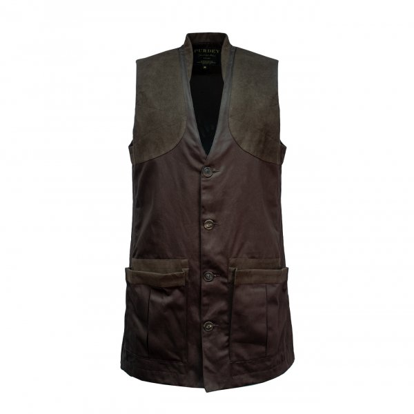 James Purdey Winter Sporting Vest Dark Green