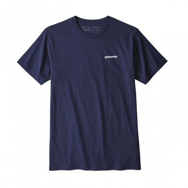 Patagonia P-6 Logo Organic T-Shirt Classic Navy
