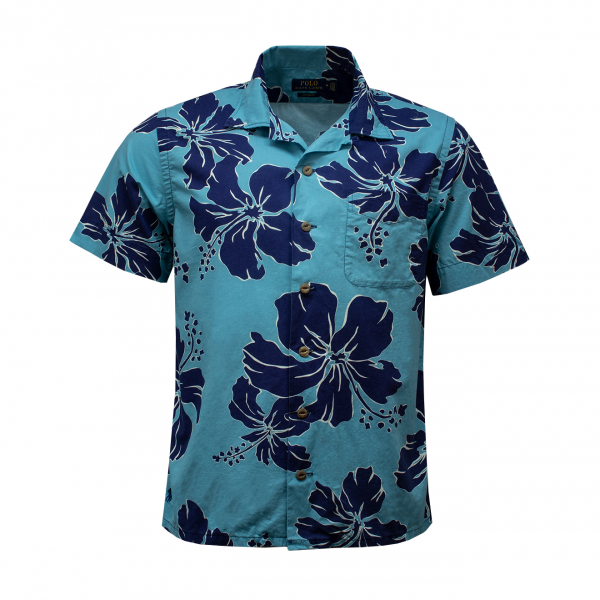 Polo Ralph Lauren Beach Print Poplin Shirt Shadow Hibiscus
