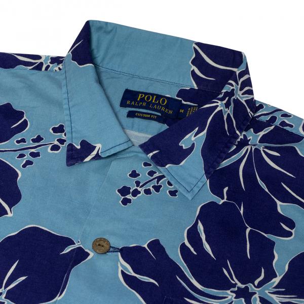 Polo Ralph Lauren Beach Print Poplin Shirt Shadow Hibiscus