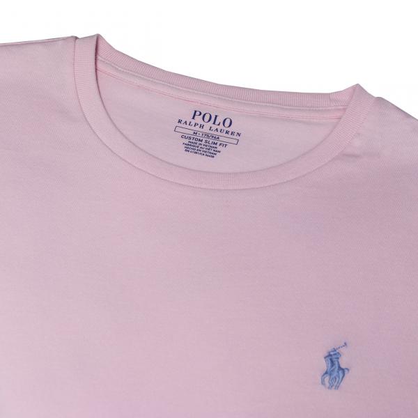 Polo Ralph Lauren Custom Slim Fit Crewneck T-Shirt Bath Pink