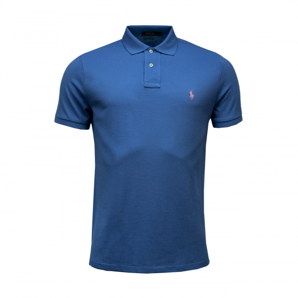 Polo Ralph Lauren Custom Slim Fit Mesh Polo French Blue