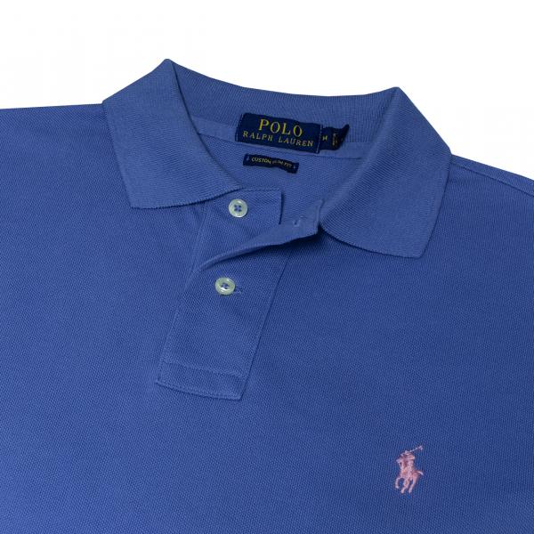 Polo Ralph Lauren Custom Slim Fit Mesh Polo French Blue