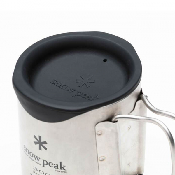 Snow Peak 300 Double Wall Mug Silicone Lid