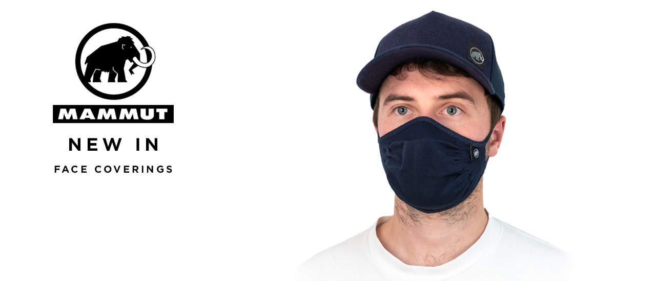 Man Wearing Mammut Community Face mask