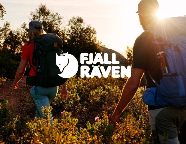 Man and Woman Wearing Fjallraven Trekking Clothing