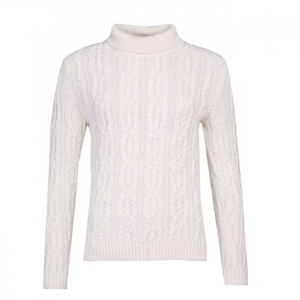 Barbour Burne Womens Knit Cream